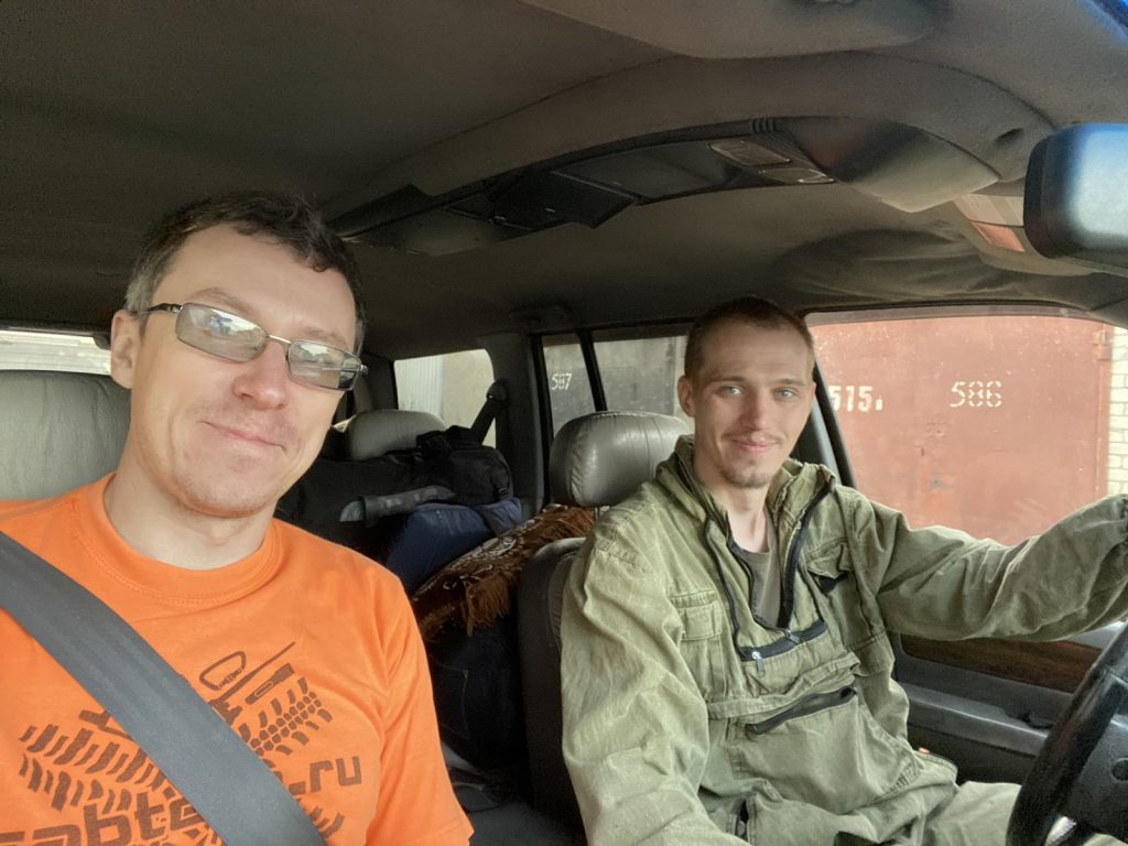 Шпион и Чара по дороге на ТТ
