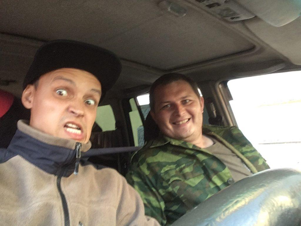Филин и Бурый по дороге на ТТ